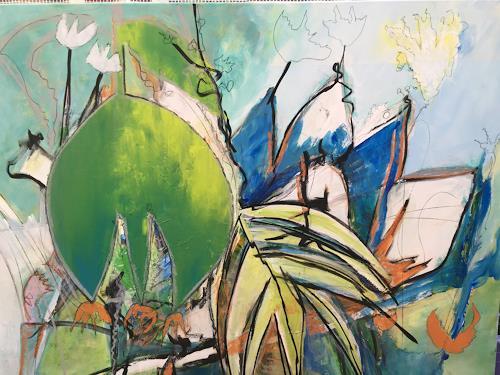 Gisela Günther, oT, Plants, Fantasy, Non-Objectivism [Informel], Expressionism
