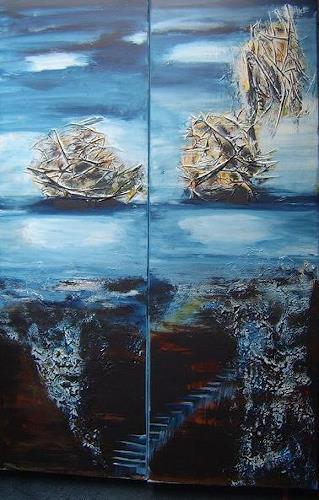 mimik, letzte  Fahrt 2, Abstract art, Landscapes: Sea/Ocean, Land-Art