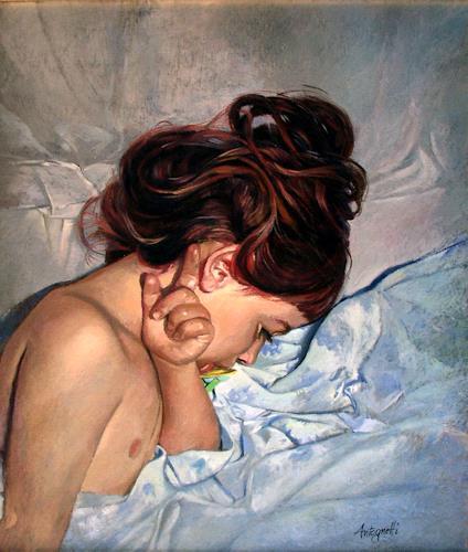 Lorenzo Antognetti, '' Althea '' di Lorenzo Antognetti, People: Portraits, Realism, Expressionism