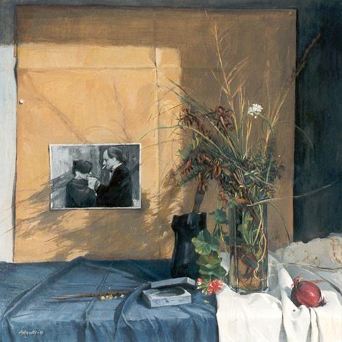 Lorenzo Antognetti, '' Matilde e Lorenzo ''  di L orenzo Antognetti, People: Families, Realism, Expressionism