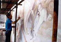 L. Antognetti, Lorenzo Antognetti , mentre esgue l'affrescho