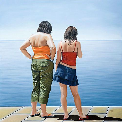 Kerstin Arnold, The Freedom to Travel - Bed and Breakfast, People: Couples, Society, Realism, Expressionism