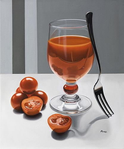 Kerstin Arnold, Red Power, Meal, Still life, Realism, Expressionism