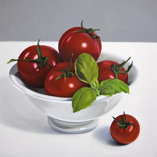 Kerstin Arnold, Pomodori, Meal, Still life, Realism, Expressionism