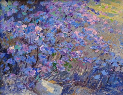 Franz Brandner, Azalea, Landscapes: Spring, Plants: Flowers, Post-Impressionism