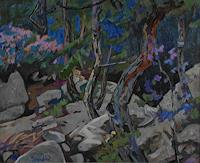 Franz-Brandner-Landscapes-Spring-Nature-Wood-Modern-Age-Impressionism-Neo-Impressionism