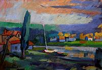 Franz-Brandner-Miscellaneous-Landscapes-Nature-Water-Modern-Age-Expressionism-Fauvismus