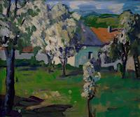 Franz-Brandner-Nature-Miscellaneous-Landscapes-Spring-Modern-Age-Expressionism-Fauvismus
