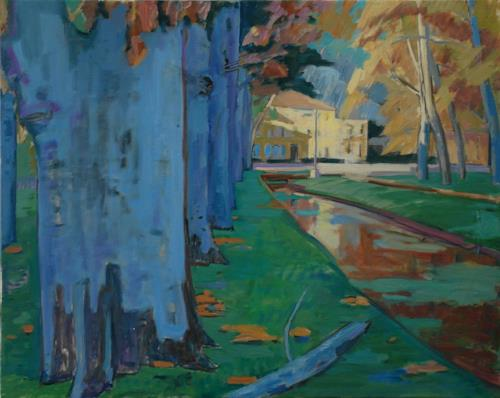 Franz Brandner, Provence, Nature: Miscellaneous, Landscapes: Autumn, Fauvismus, Abstract Expressionism