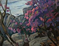 Franz-Brandner-Nature-Rock-Plants-Flowers-Modern-Age-Expressionism-Fauvismus