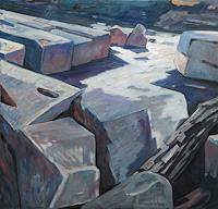 Franz-Brandner-Landscapes-Nature-Rock-Modern-Age-Expressionism-Fauvismus