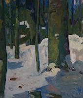 Franz-Brandner-Landscapes-Winter-Nature-Wood-Modern-Age-Expressionism-Fauvismus
