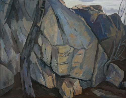 Franz Brandner, Felsen2, Landscapes: Mountains, Nature: Rock, Fauvismus, Expressionism