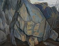 Franz-Brandner-Landscapes-Mountains-Nature-Rock-Modern-Age-Expressionism-Fauvismus