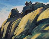 Franz-Brandner-Landscapes-Mountains-Nature-Rock-Modern-Age-Expressionism-Neo-Expressionism