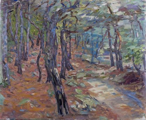 Franz Brandner, Forest3, Landscapes: Summer, Nature: Wood, Post-Impressionism, Expressionism