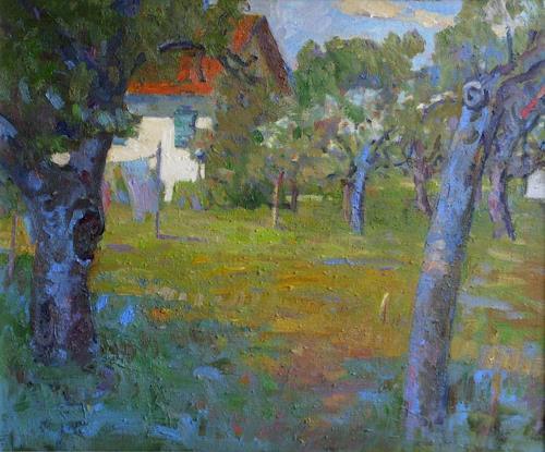 Franz Brandner, Farmstead, Landscapes: Plains, Nature: Miscellaneous, Post-Impressionism, Expressionism