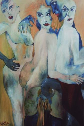 Sofia Schuck, Himmel und Hölle, People: Group, Neo-Expressionism, Abstract Expressionism