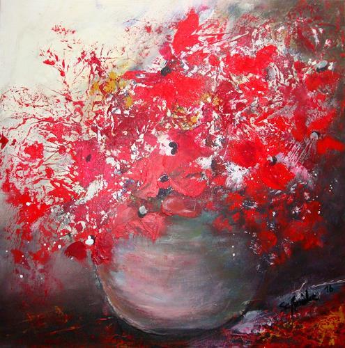 Ingeborg Schnöke, Valentinstag, Plants: Flowers, Expressionism