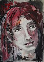 Ingeborg-Schnoeke-People-Women-Miscellaneous-Emotions-Modern-Age-Abstract-Art