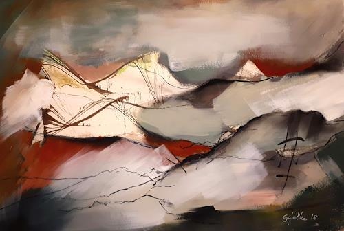 Ingeborg Schnöke, Frühlingserwachen, Landscapes: Beaches, Poetry, Abstract Art, Expressionism