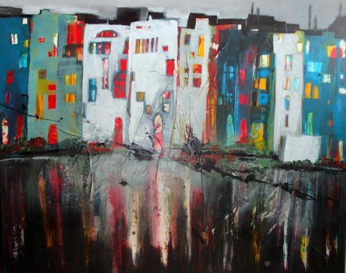 Ingeborg Schnöke, Girona, Interiors: Cities, Fantasy, Abstract Art, Expressionism