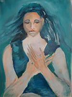 Ingeborg-Schnoeke-People-Women-Poetry-Modern-Age-Abstract-Art