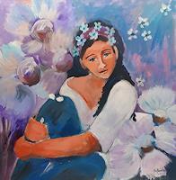 Ingeborg-Schnoeke-People-Women-Emotions-Joy-Modern-Age-Abstract-Art