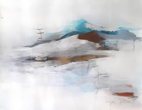 Ingeborg Schnöke, die Welle, Nature: Water, Poetry, Abstract Art