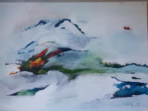 Ingeborg Schnöke, Auf den Flügeln meiner Sehnsucht, Landscapes, Poetry, Abstract Art