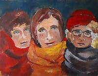 Ingeborg-Schnoeke-People-Faces-Modern-Age-Abstract-Art