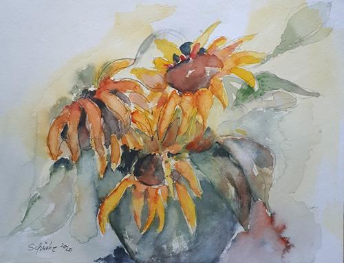 Ingeborg Schnöke, Sonnenblumen, Plants, Abstract Art