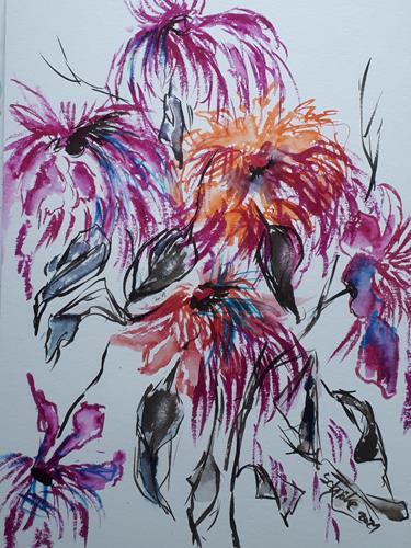Ingeborg Schnöke, Vergänglich, Plants, Abstract art, Abstract Art