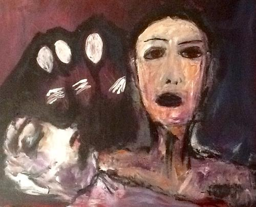Despina Papadopoulou, -Die Klageweiber-, Emotions: Grief, Symbolism, Abstract Expressionism