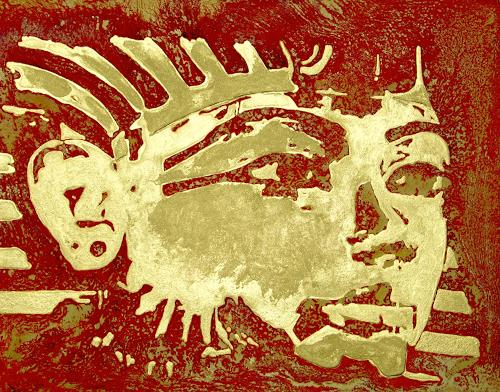 Benno Fognini, Tutenchamun, Mythology, Pop-Art, Expressionism