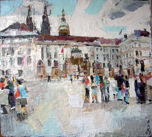 Heini Andermatt, Prag, Hradschin, Miscellaneous Landscapes, New Figurative Art