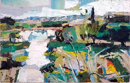 Heini Andermatt, Garten in St. Remy de Provence, Landscapes: Summer, Postmodernism
