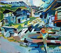 Heini-Andermatt-Architecture-Landscapes-Mountains-Contemporary-Art-Neo-Expressionism