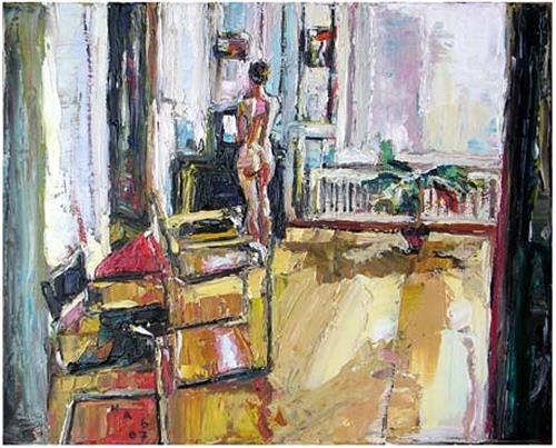 Heini Andermatt, Akt, Josefstrasse, Erotic motifs: Female nudes, Postmodernism, Expressionism