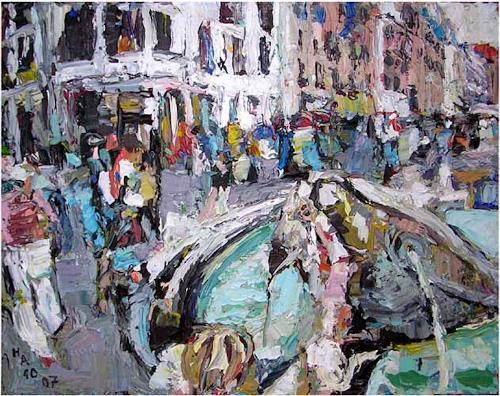 Heini Andermatt, Piazza di Spagna, Rom, Miscellaneous Landscapes, Abstract Art