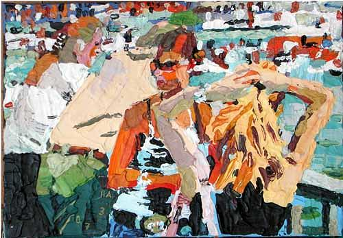 Heini Andermatt, Züri-Girls mit Booten, People: Women