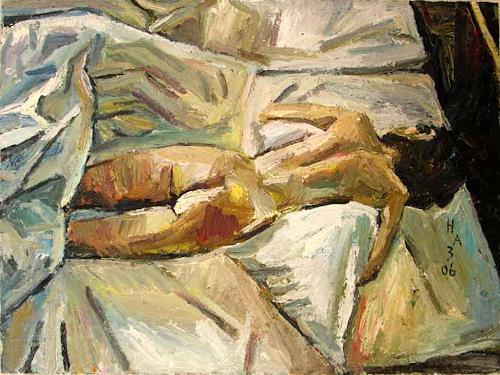 Heini Andermatt, Akt, Locarno, Erotic motifs: Female nudes, New Figurative Art, Expressionism