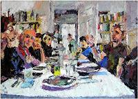 Heini-Andermatt-People-Group-Modern-Age-Others-New-Figurative-Art