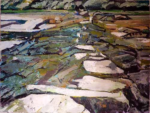 Heini Andermatt, Prat-Paul, Bretagne, Miscellaneous Landscapes, New Image Painting, Abstract Expressionism
