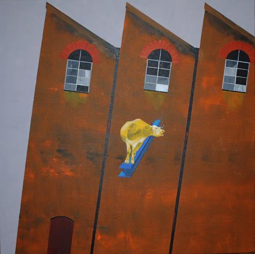 Walter Lehmann, Die vergessene Hornkuh, Animals: Land, Abstract Art, Abstract Expressionism