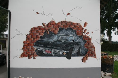 Regula Kummer, 66 corvette, Traffic: Car, Movement, Contemporary Art