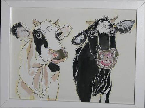 Regula Kummer, Kühe, Susi und Strolch/Cows, Susi and Scallywag, Animals: Land, Contemporary Art
