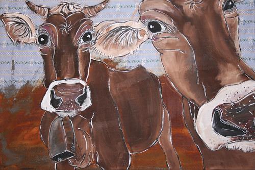Regula Kummer, Kühe, Ellen und Portia, Animals: Land, Contemporary Art