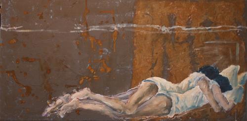 Regula Kummer, Geborgenheit, People: Couples, New Image Painting, Expressionism