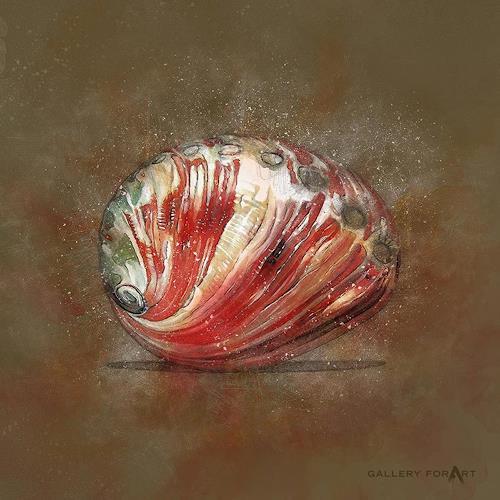 Artur Wasielewski, SHELL MUD ABALONE-RED, Decorative Art, Still life, Modern Age